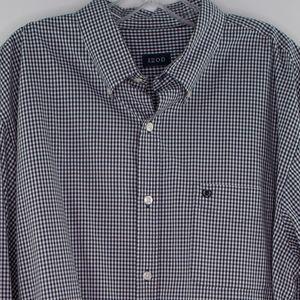 IZOD Men's Plaid Check Button Down Dress Shirt SM.